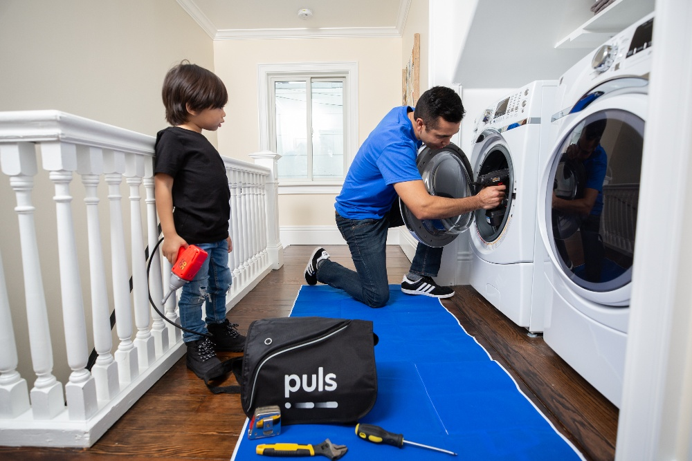 Puls technician Whirlpool repair washer