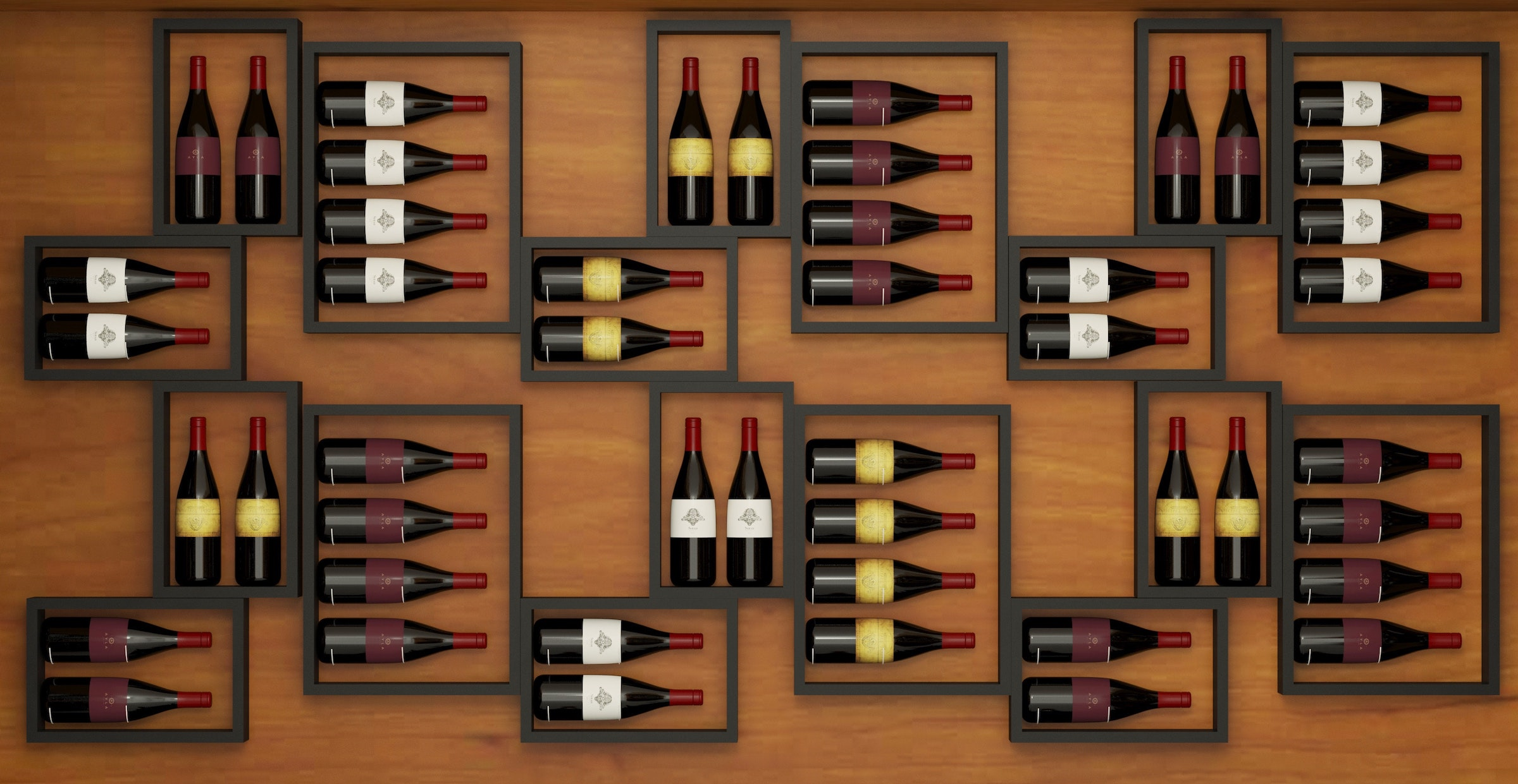 DIY projects for small spaces: mount your wine on the wall.