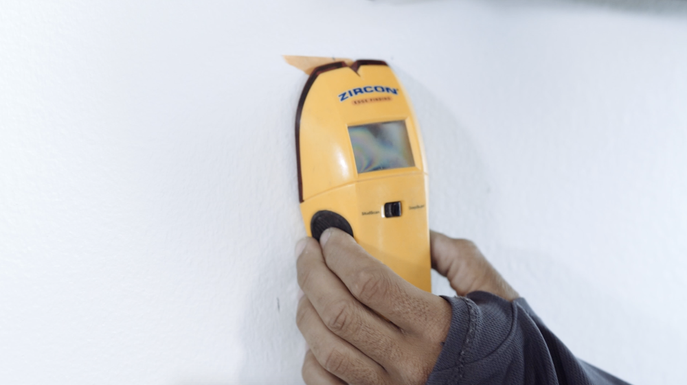 using a stud finder for TV install