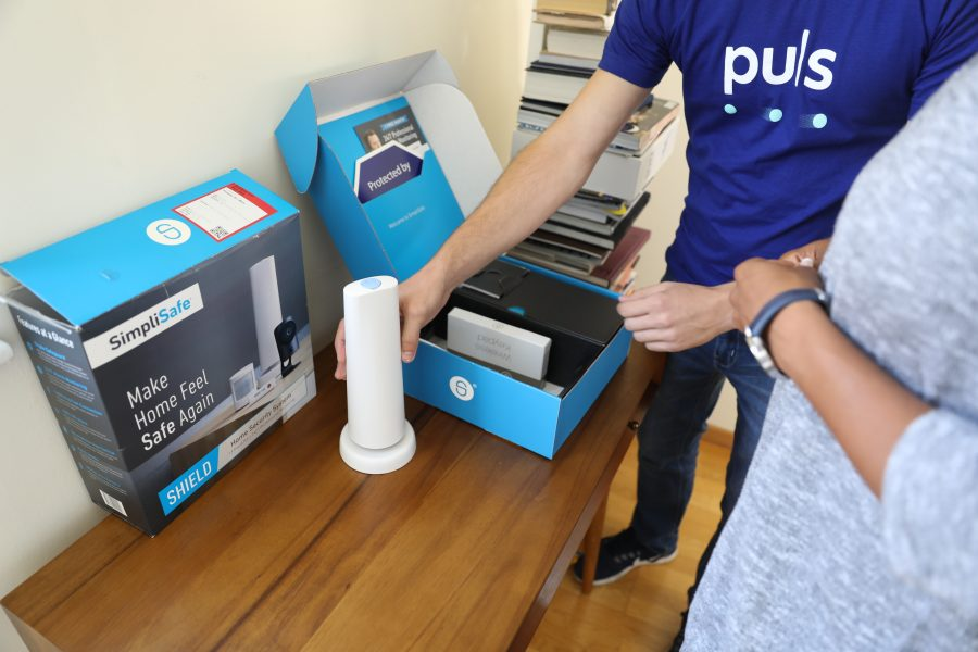 unpackaging the simplisafe security system