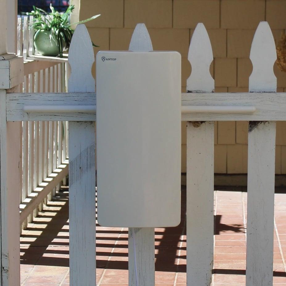 ANTOP digital antennas on a fence