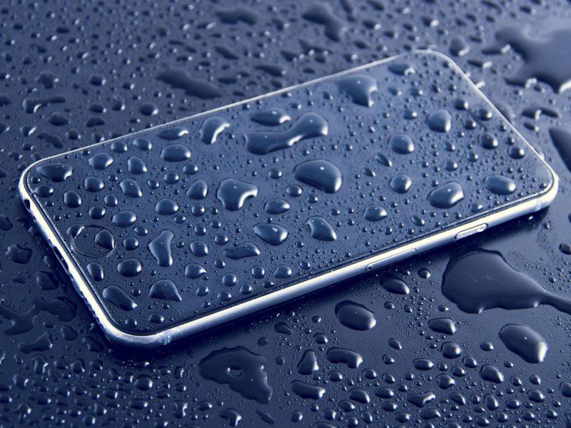 téléphone endommagé par l'eau