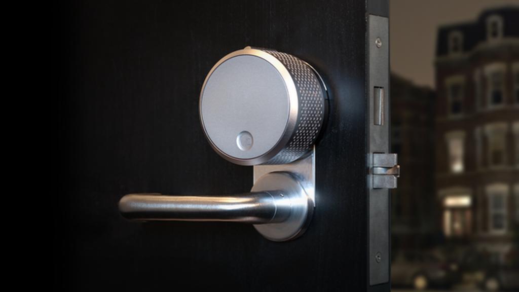 august smart lock on door