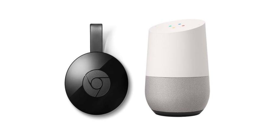 Google home and chrome cast device