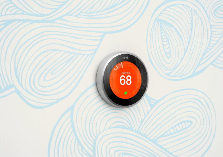 April showers: nest thermostat