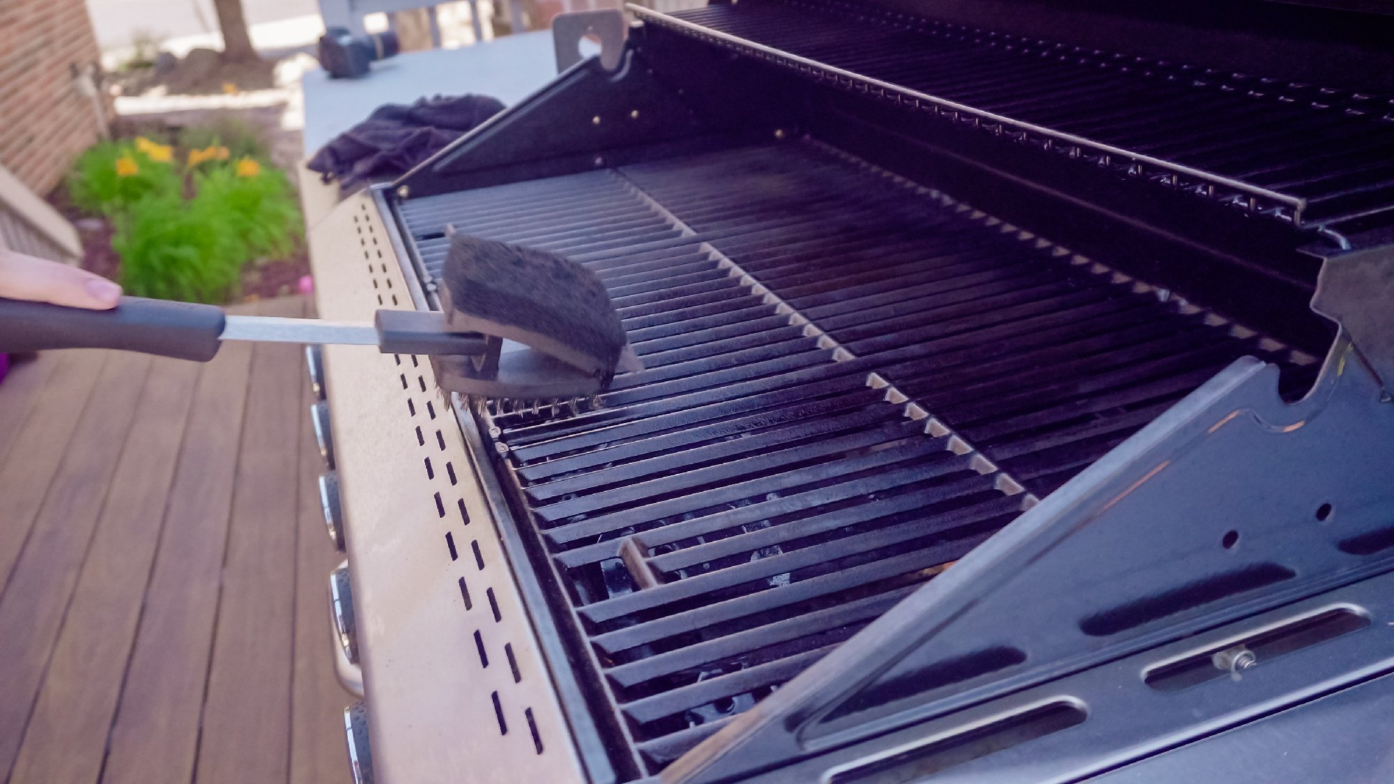 getting grill clean for summer