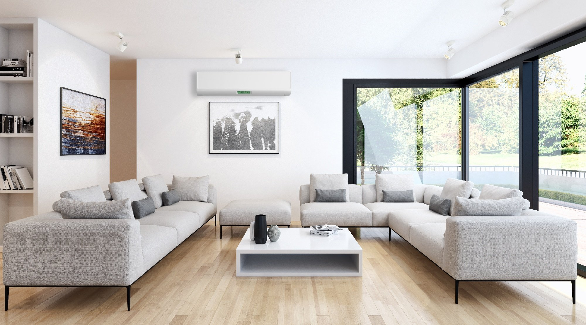 air conditioner in modern home