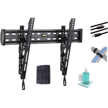 Our pick for the best TV mounting bracket that tilts is the ONN Tilting Mount