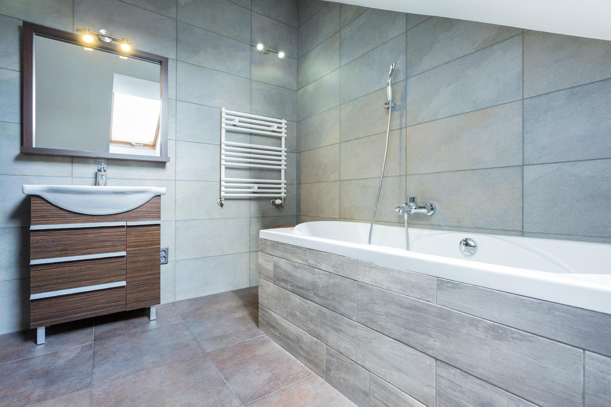 bathroom tile trend - matte finish
