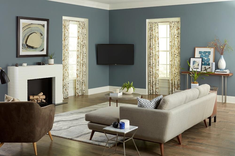 TV mounted in corner