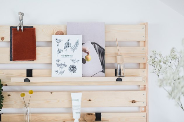 One of the best Ikea hacks is to turn a large, clunky shelving unit into a sleek art display.