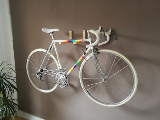 One of the best Ikea hacks is this DIY bike wall mount.