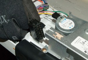 This is what the timer motor wires look like.