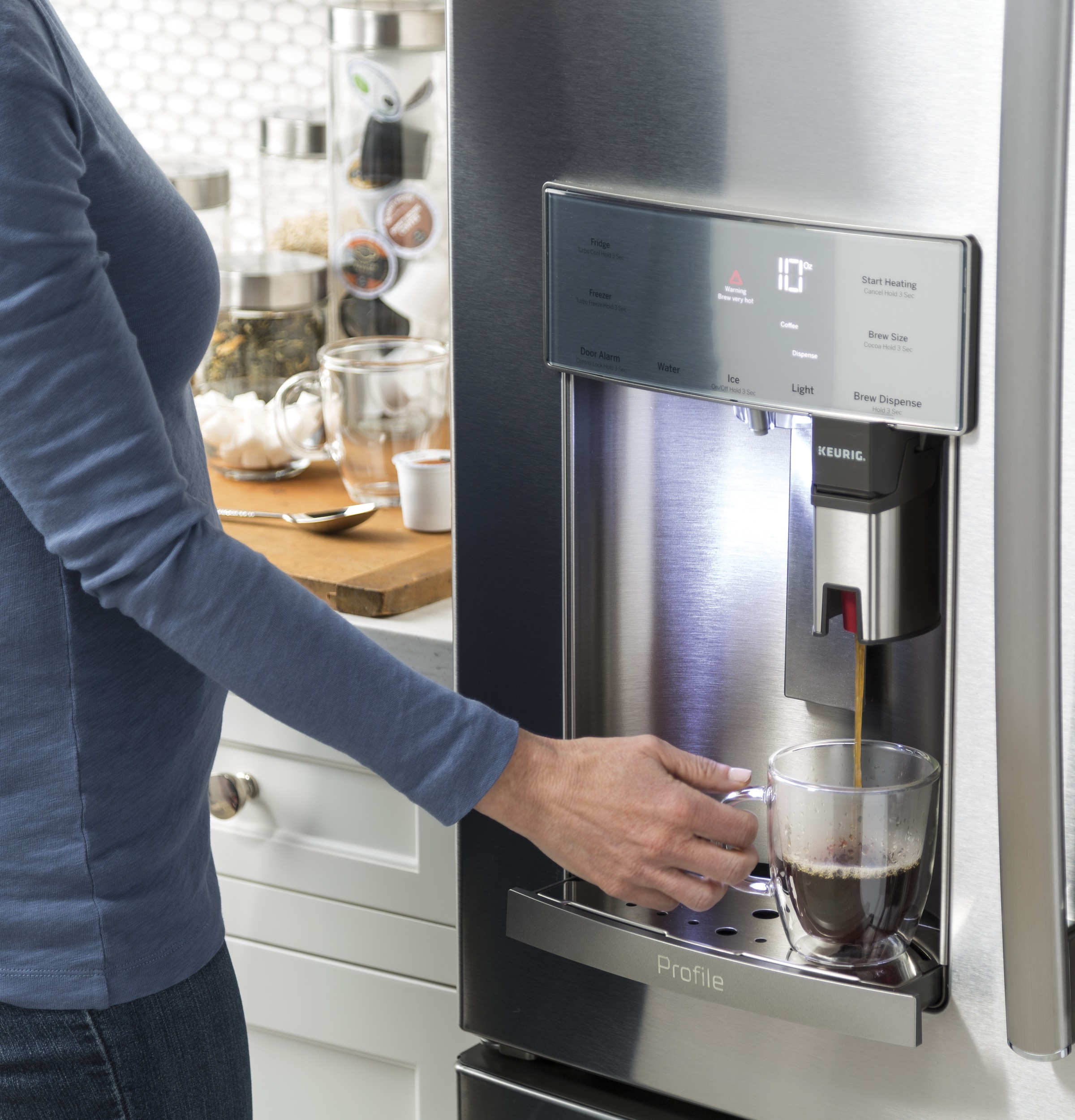 Best new refrigerators: the best french door refrigerator that can also make you coffee.