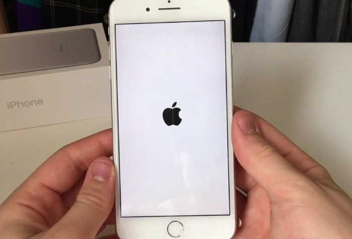 iPhone 7 loop disease stuck on white logo