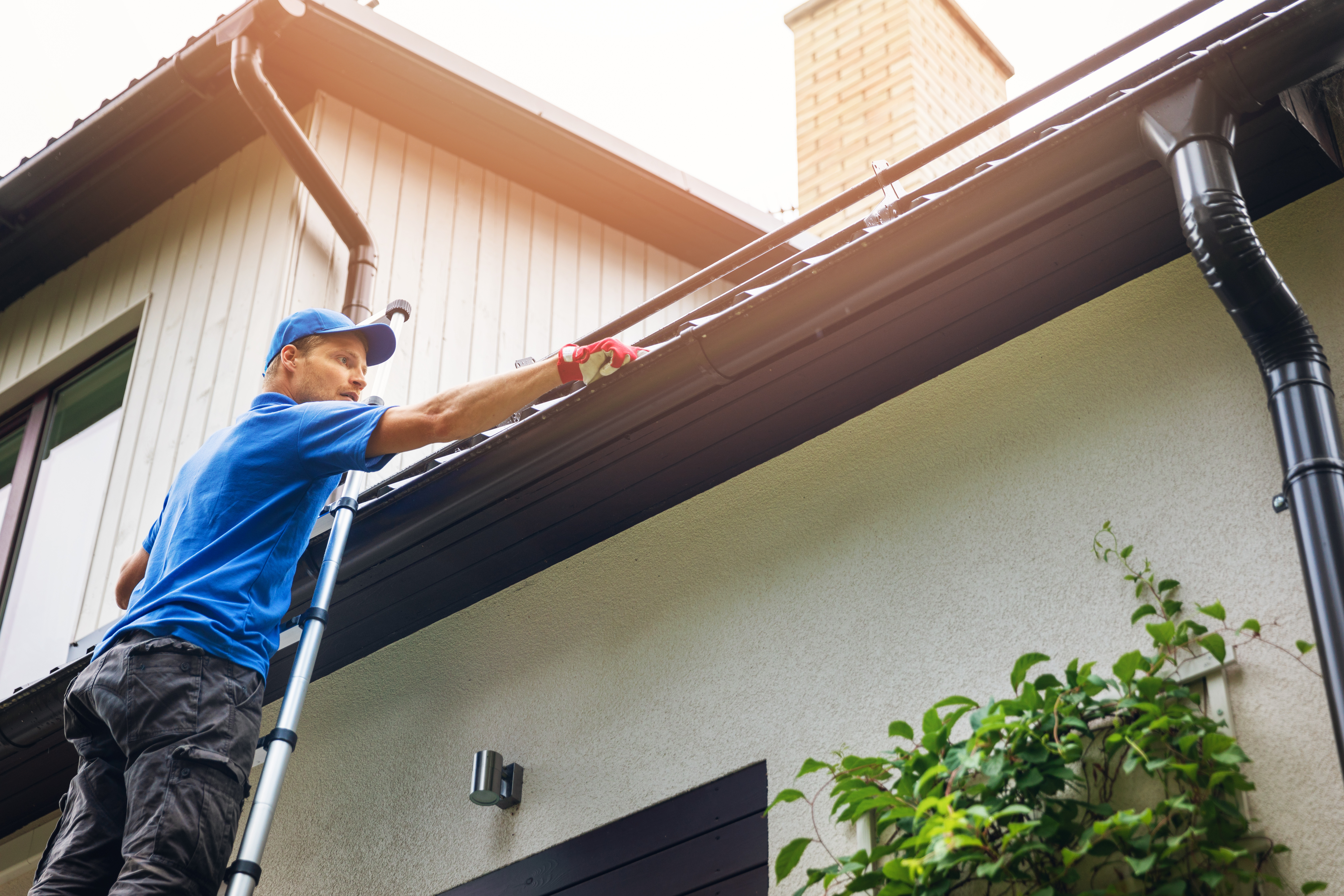 Handyman services often cover exterior tasks like gutter cleaning.