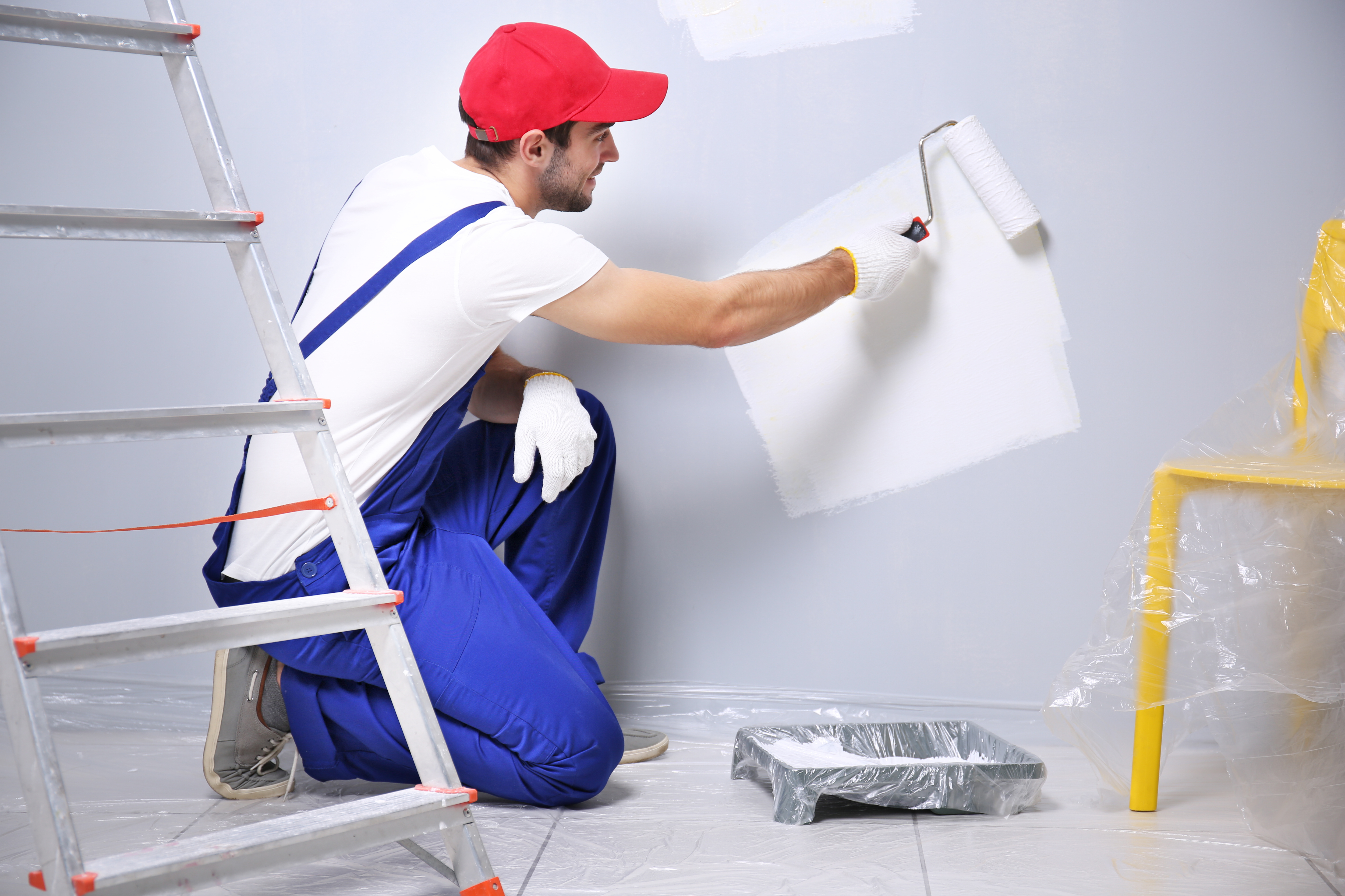 Handymen can paint the interior of your home.
