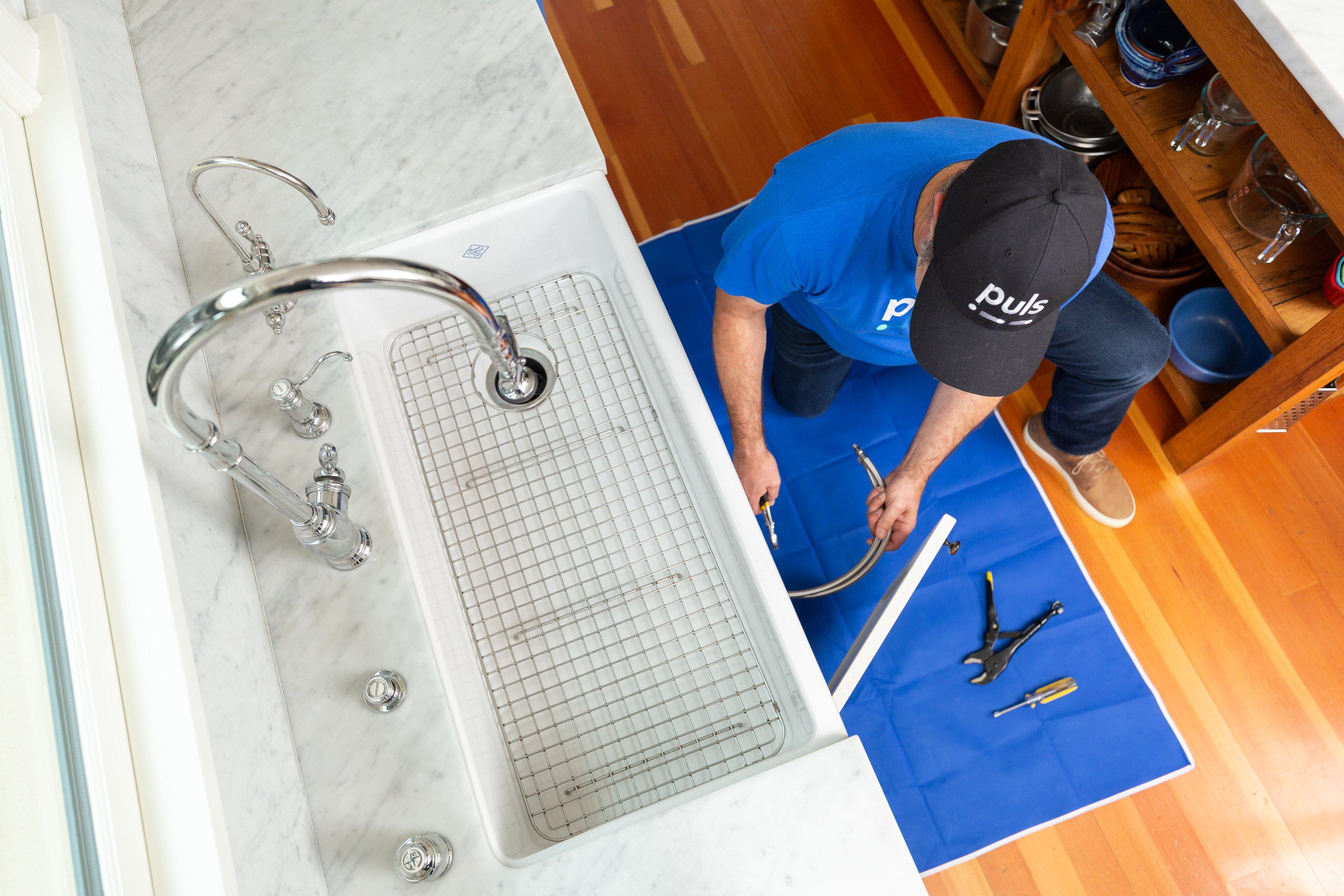 Handymen can help with plumbing needs.