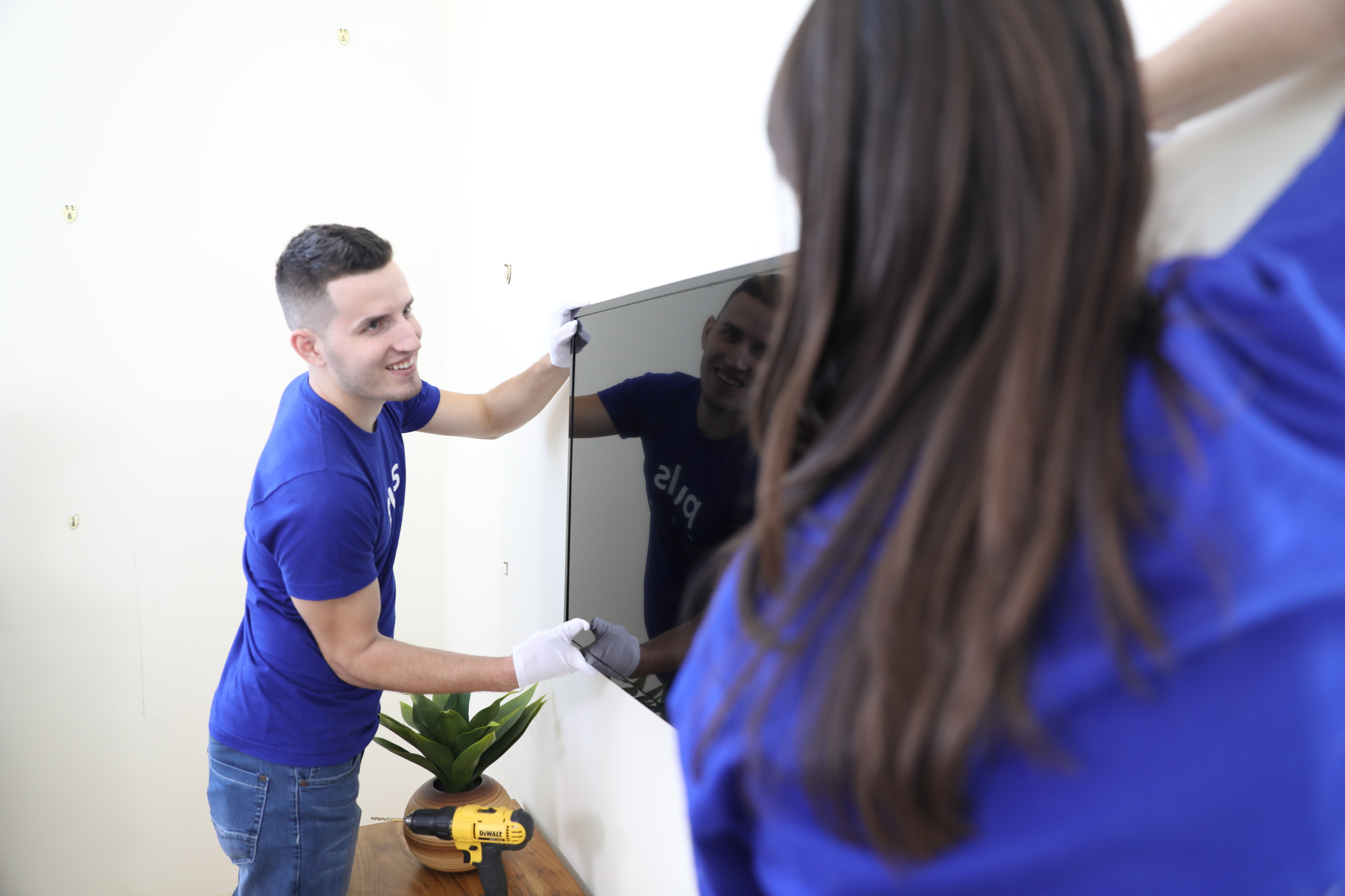 Handymen can mount your TV and help with electrical services.