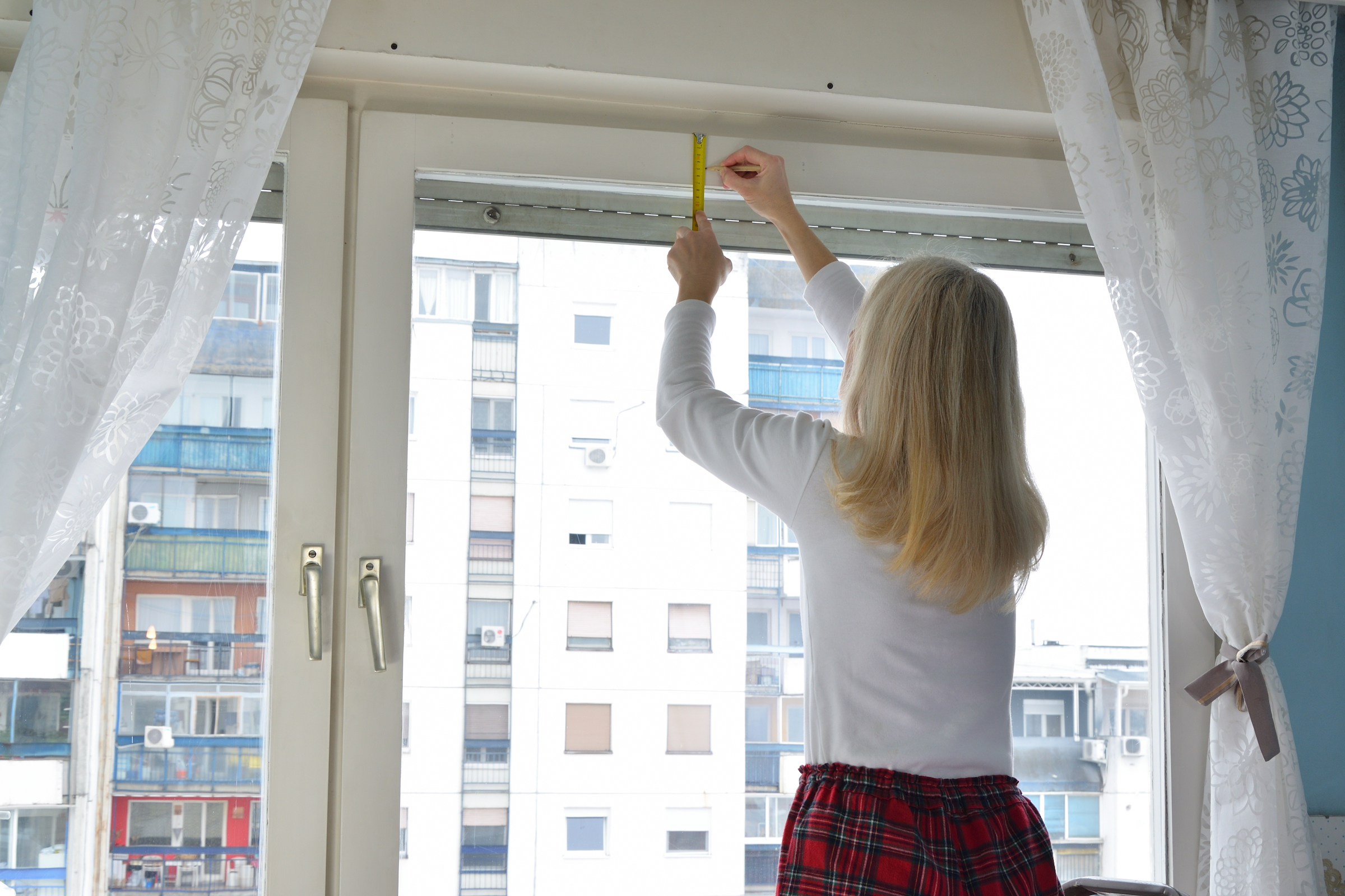 Make sure to measure your windows before you purchase and install the blinds.
