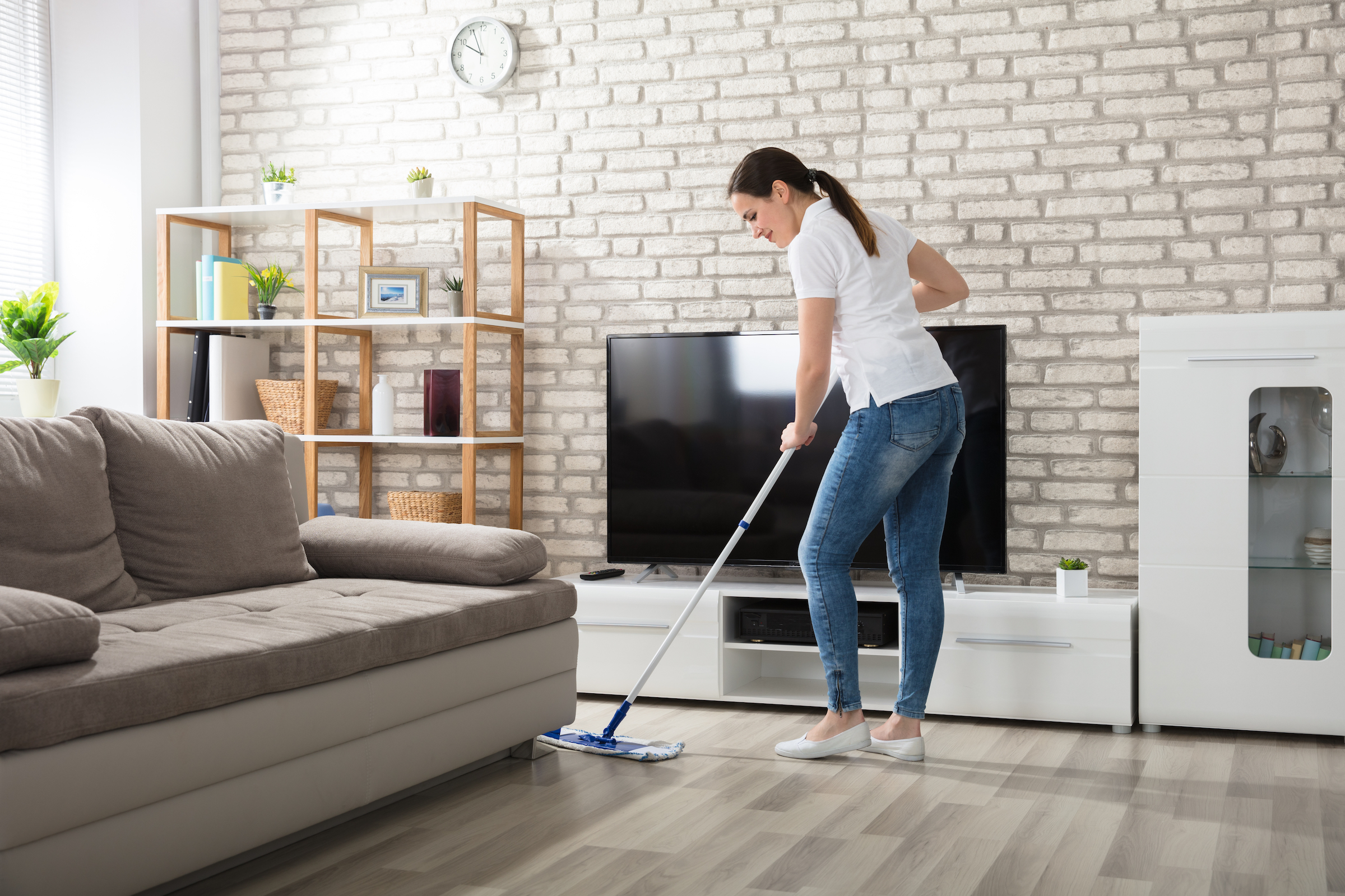 How to take care of hardwood floors: use proper cleaning supplies.
