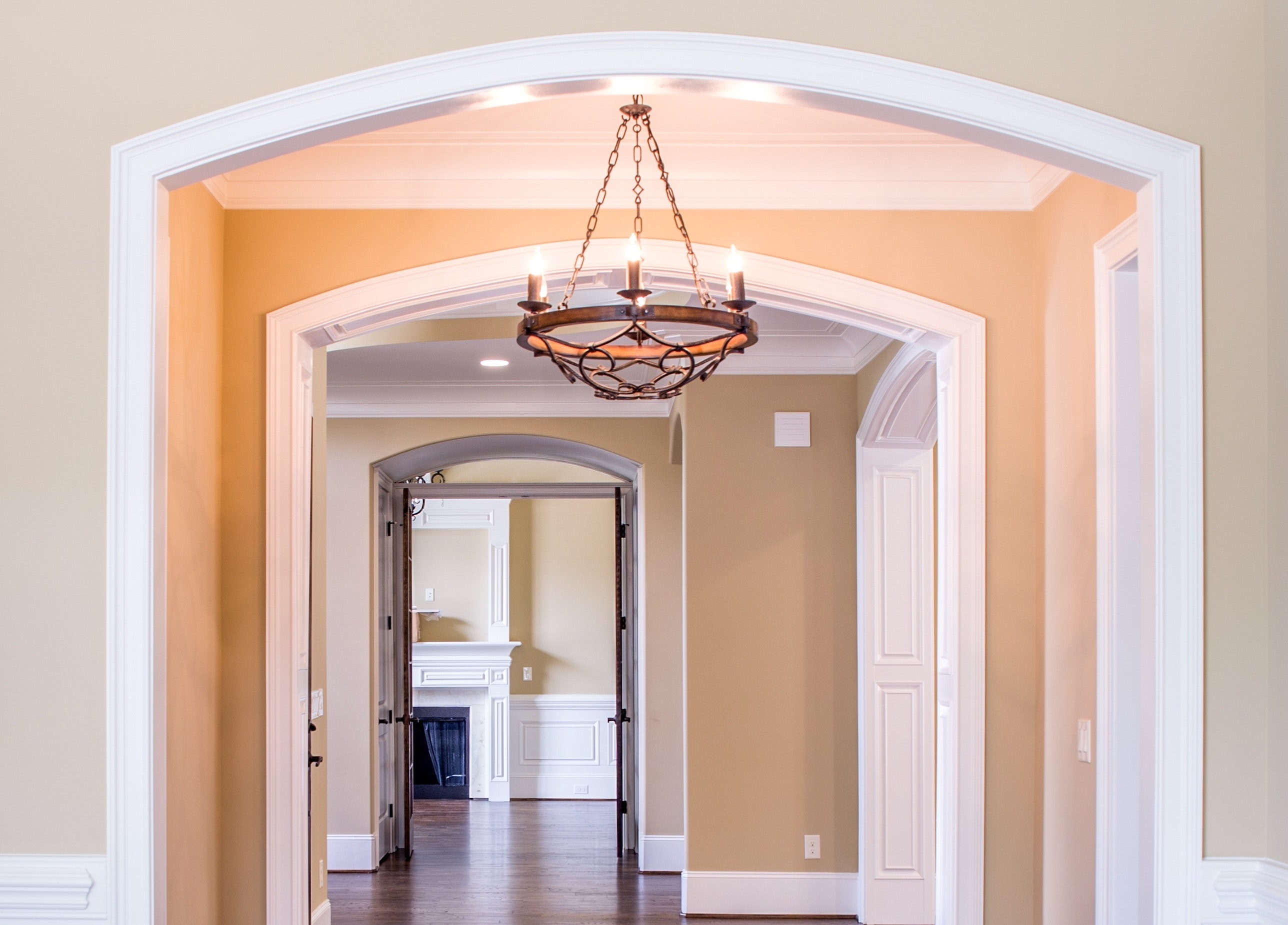 How to install a chandelier in a high ceiling