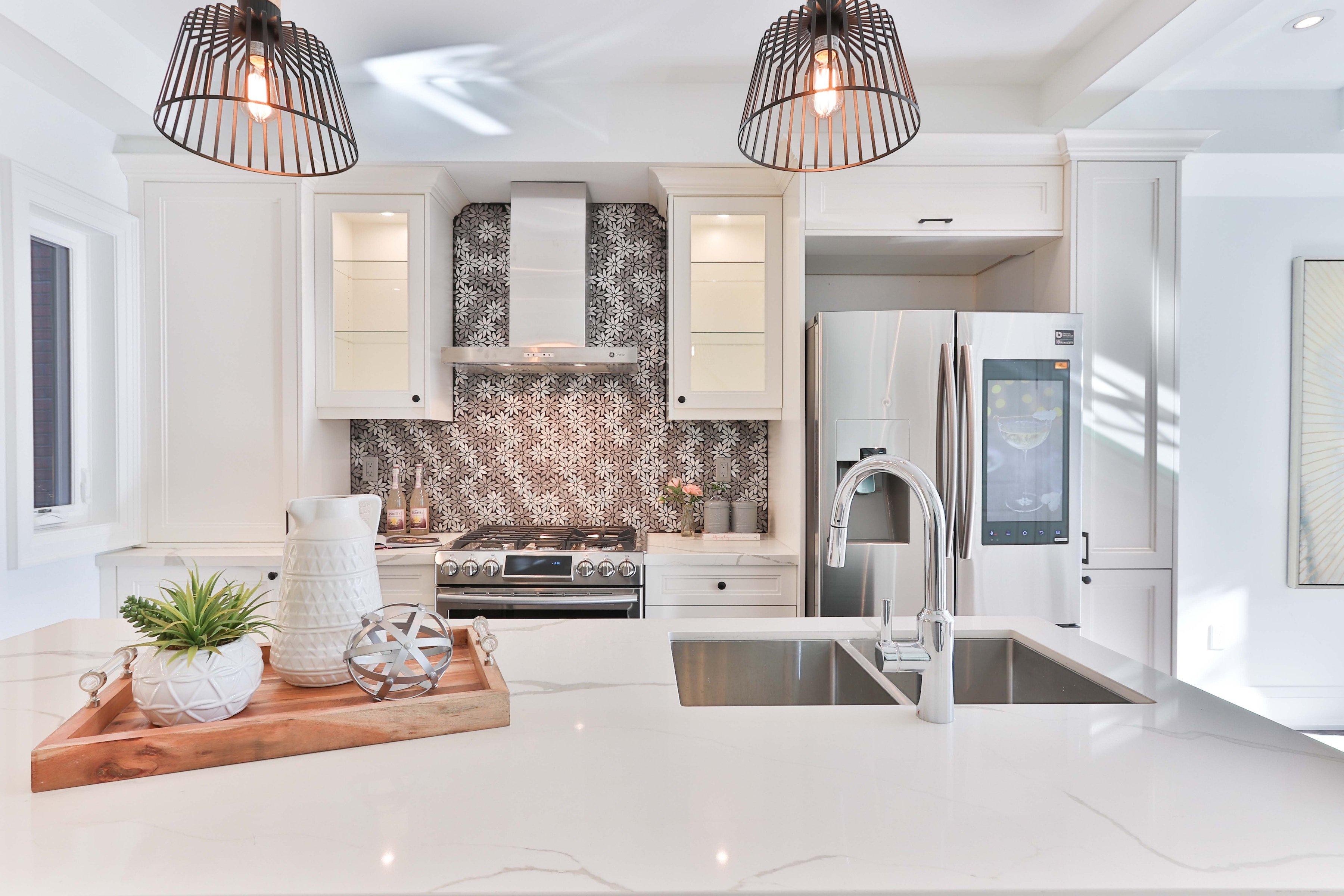Another kitchen design trend is quartz countertops
