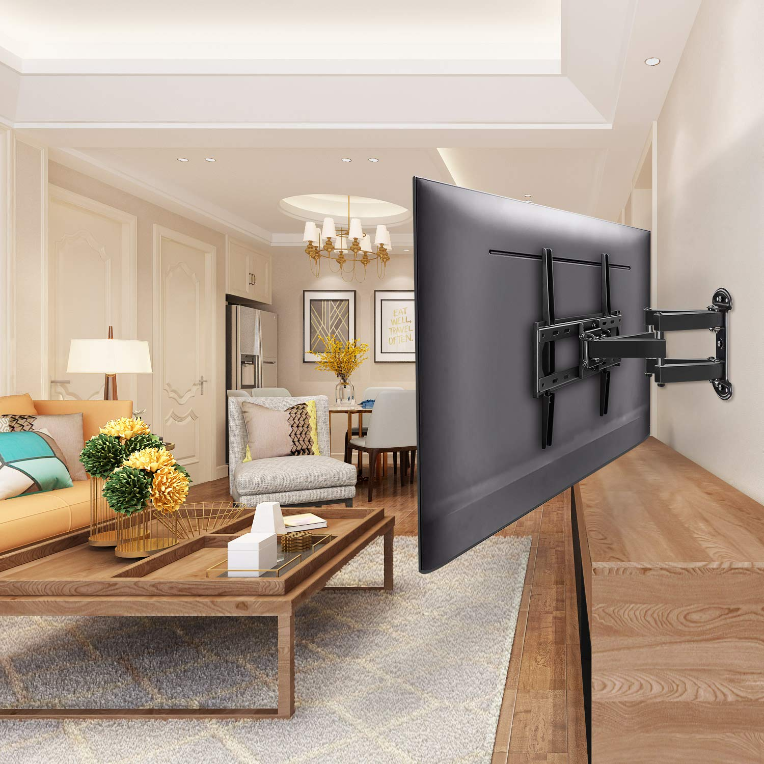 The Mounting Dream TV mount is one of the best single stud TV mounts on the market.