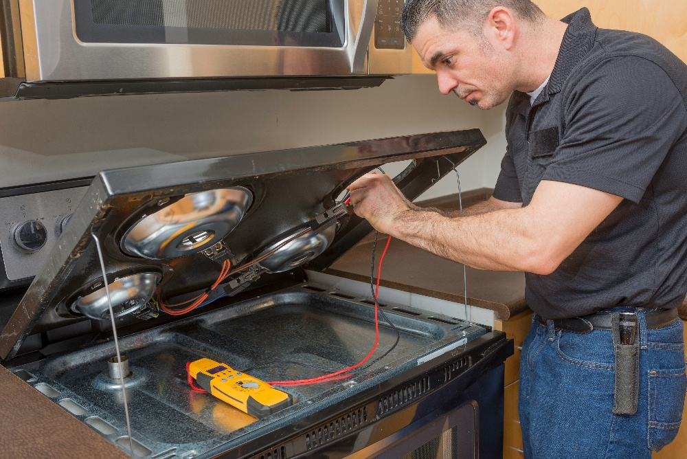 checking stove gas supply