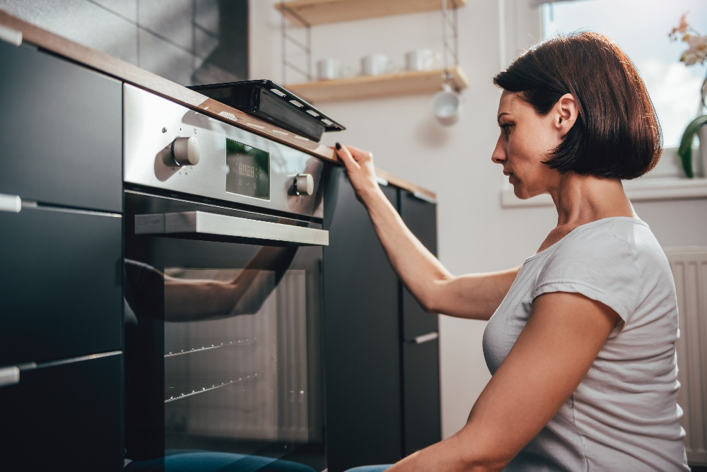 checking an oven