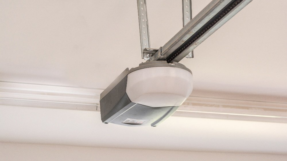 garage door opener attached to ceiling