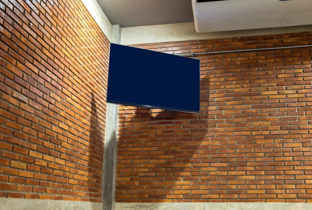 TV mounting on brick
