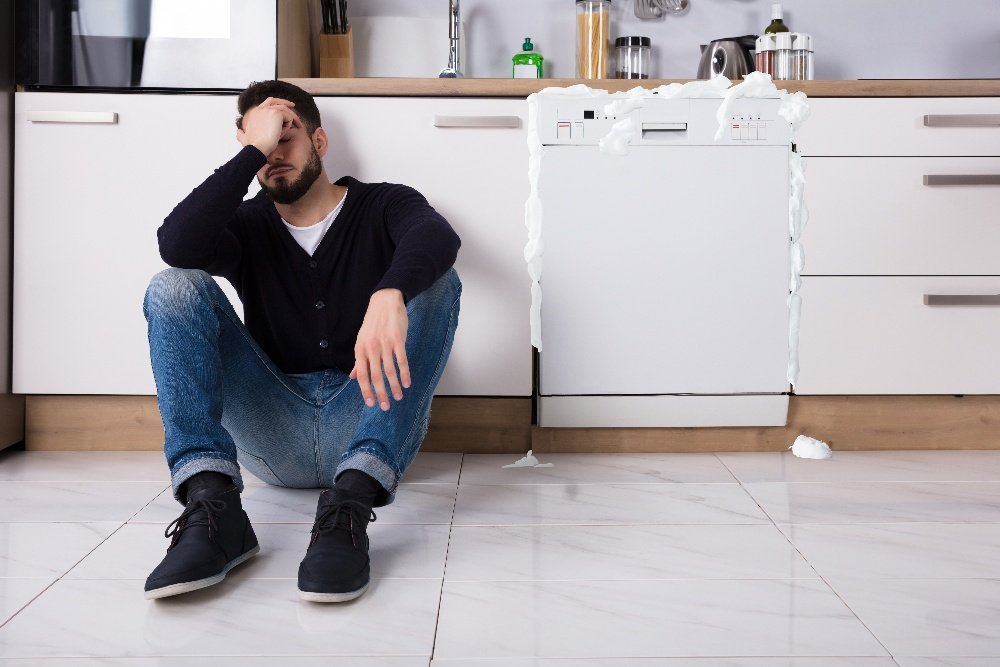 dishwasher overflowing