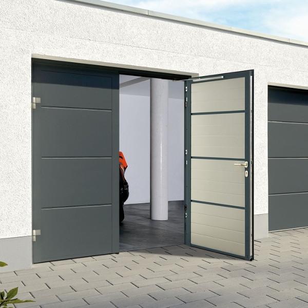 боковая распашная дверь гаража