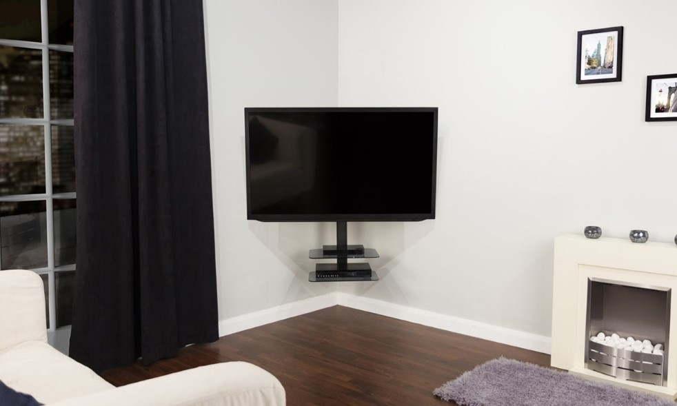 tv mount in corner