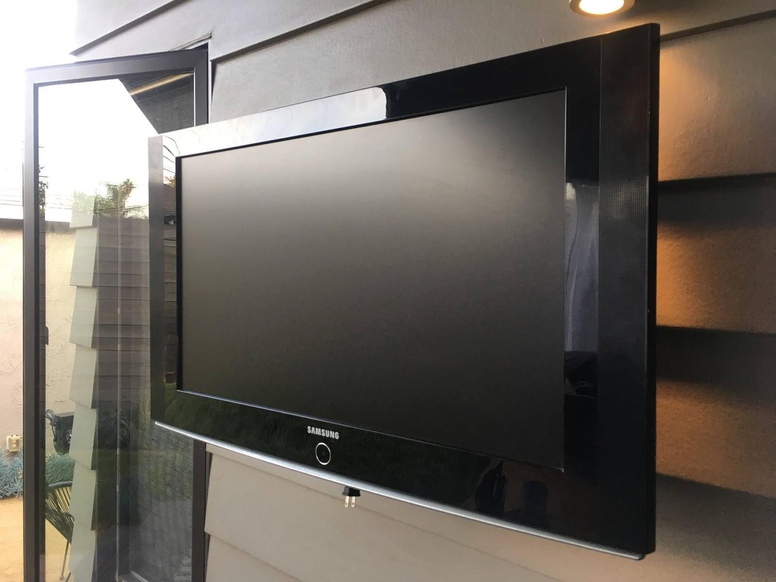 tv outdoors in spring