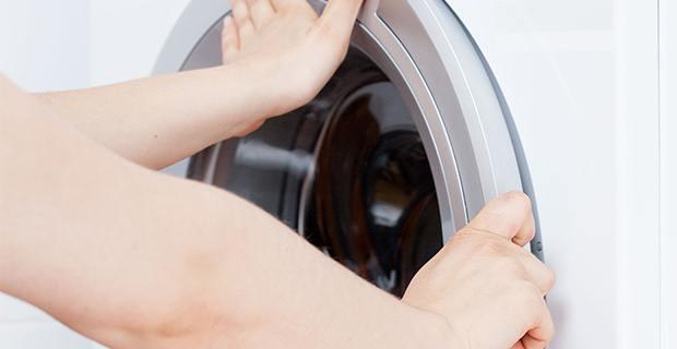 washing machine door stuck