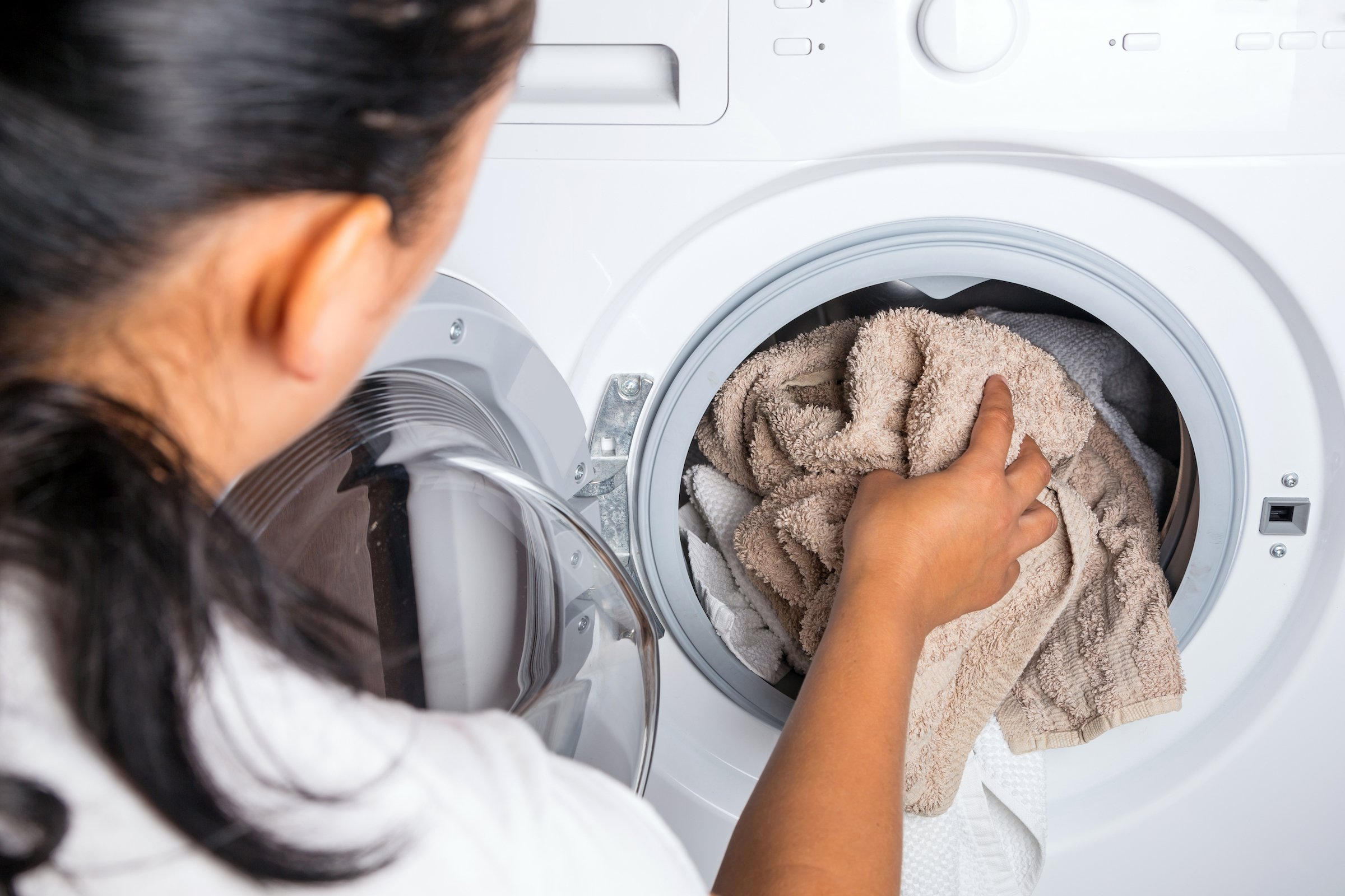 User error could cause a washing machine to not rinse soap out.