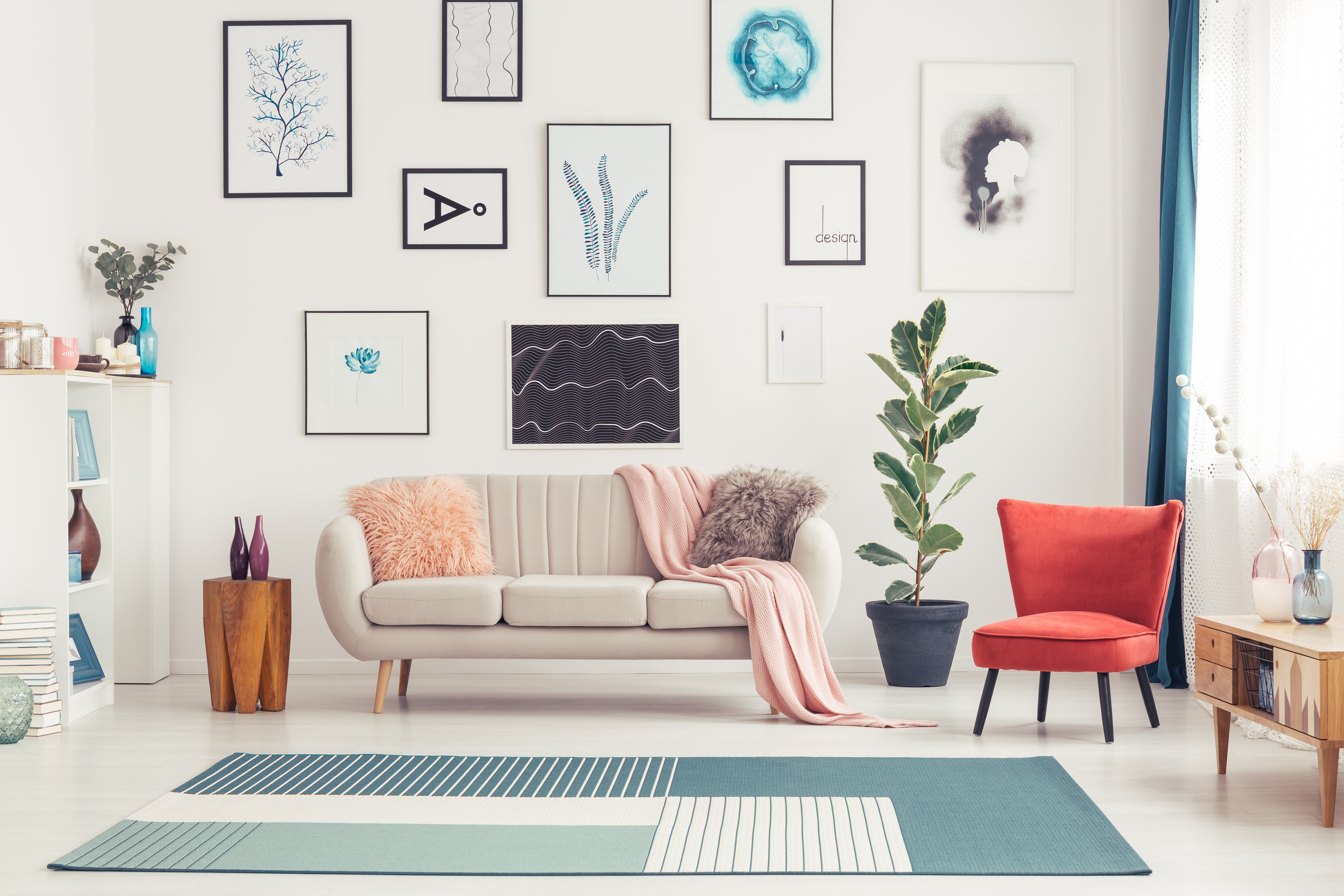 How to Hang Art Without Nails So You Don't Damage Your Walls